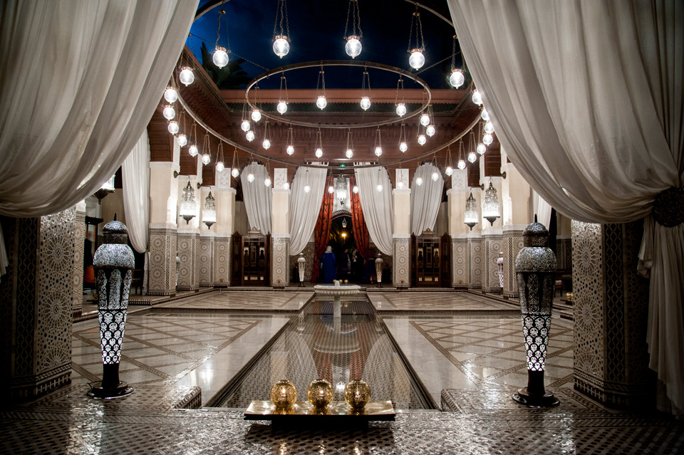 Luxury wedding at Royal Mansour, Marrakech