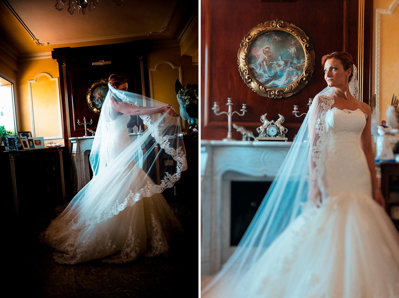 Bride Portrait in Nicol spose dress