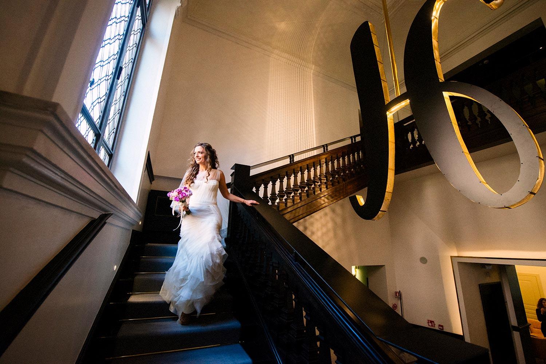 Classy bride portrait