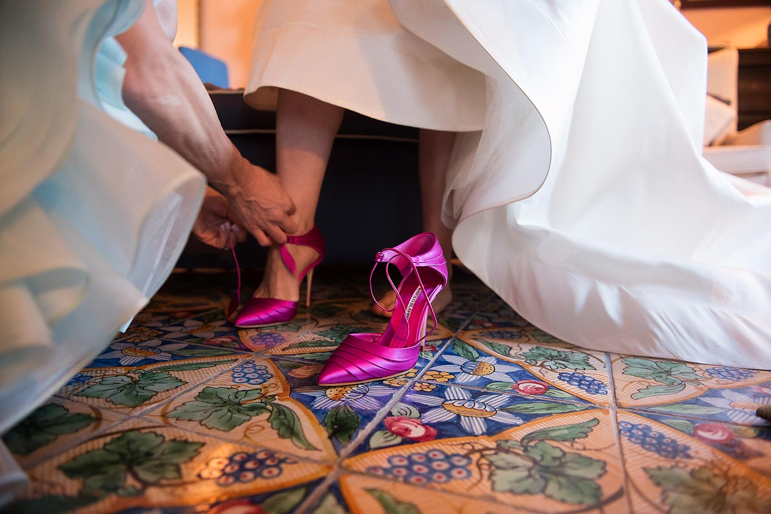 fuchsia wedding shoes Mr. Manolo Blahnik