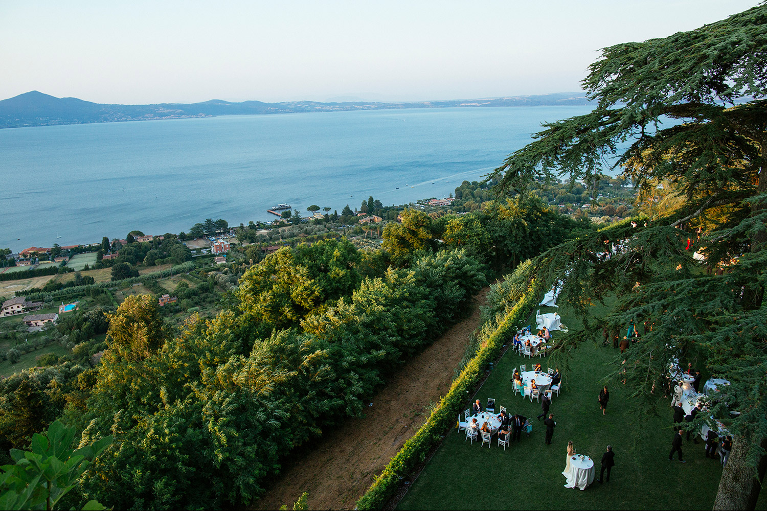 Bracciano Lake view from castle Odescalchi wedding venue