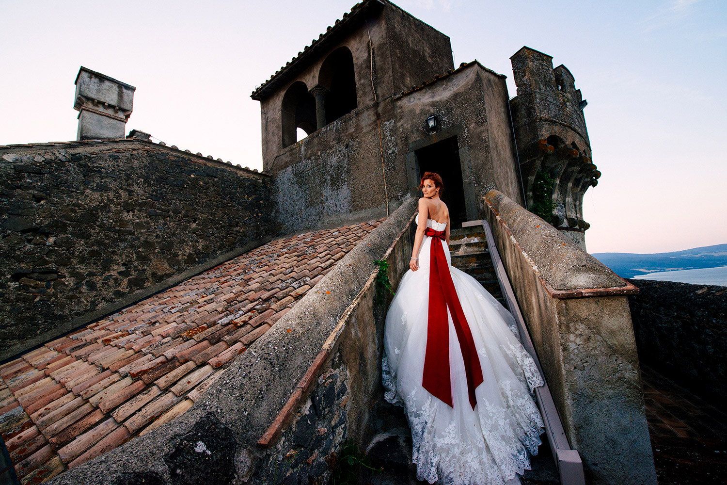 Bride Portrait in a castle