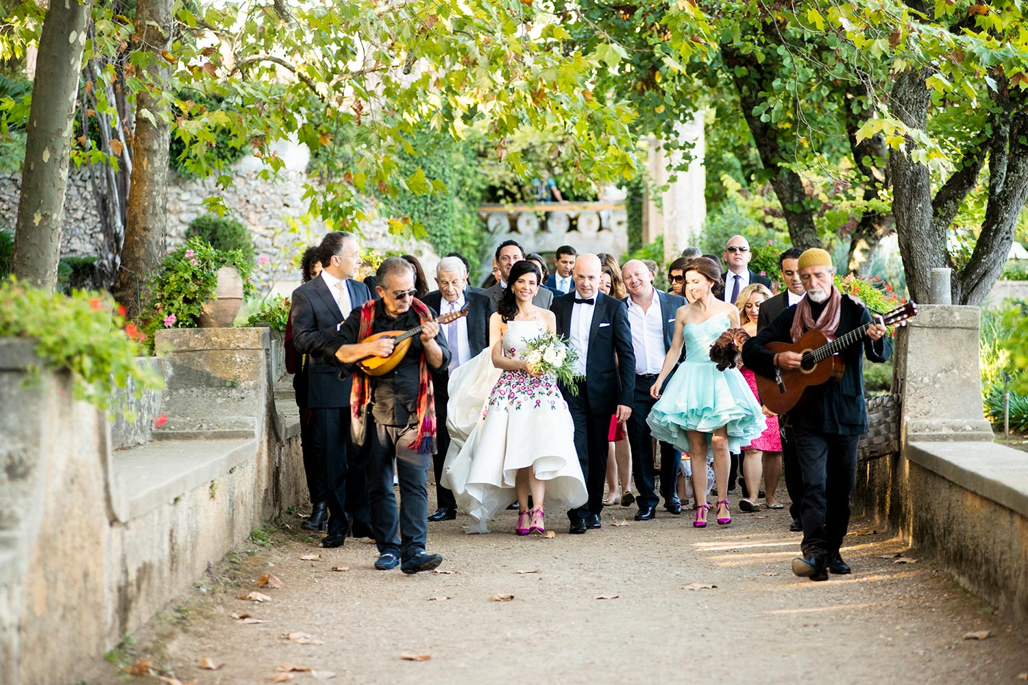Typical Naples music duo wedding music