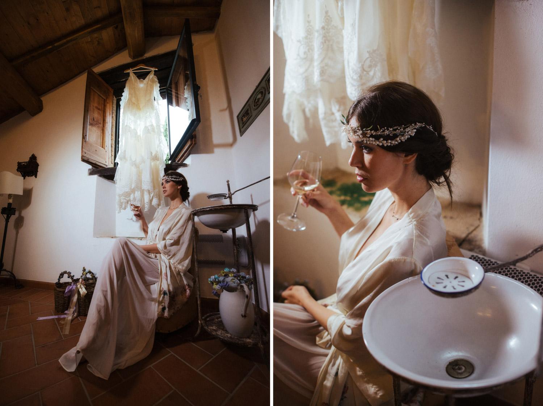 Bride portrait fashion mood