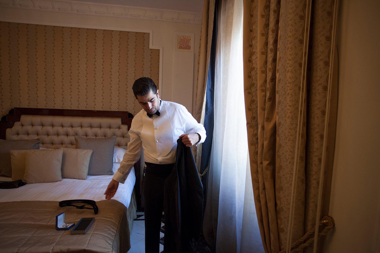 Giorgio Armani groom attire