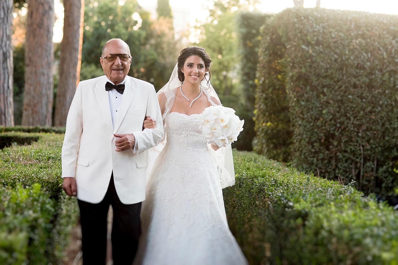 Bride had a walk down to Villa Aurelia