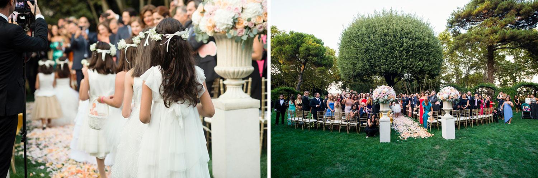 outdoor ceremony villa aurelia rome