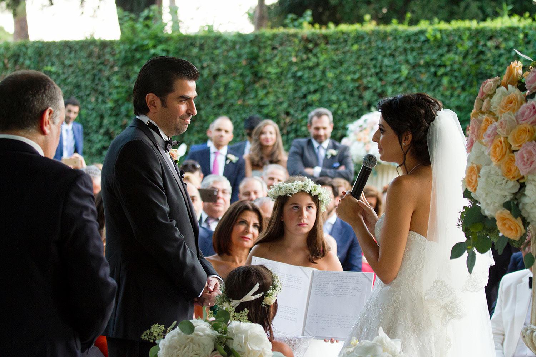 Outdoor civil ceremony Italy