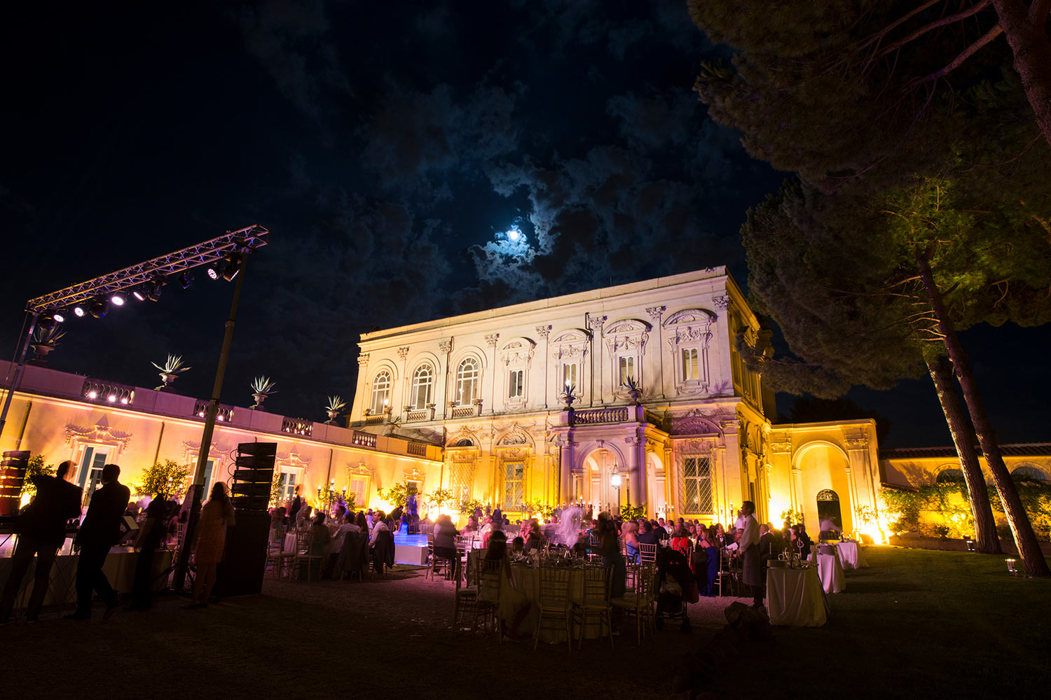 Villa Aurelia by night