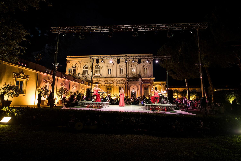 Lady Band Show at Villa Aurelia