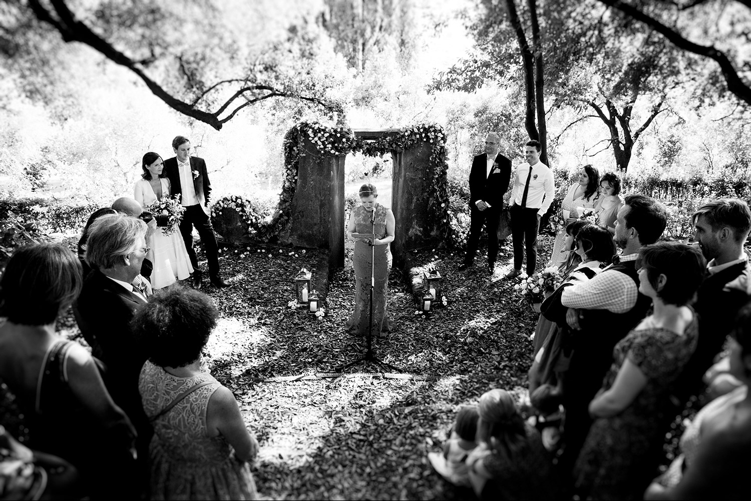ceremony in the woods tuscany