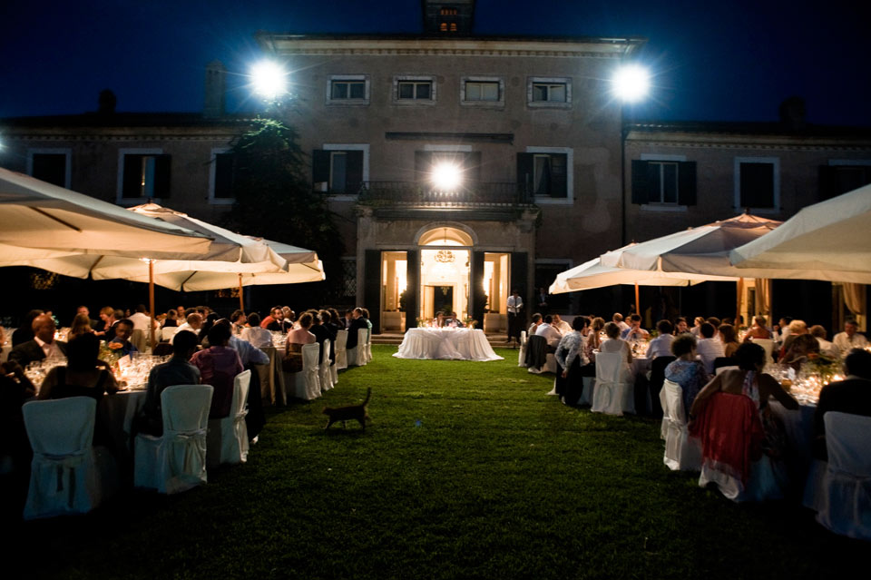 Villa di Fiorano by night