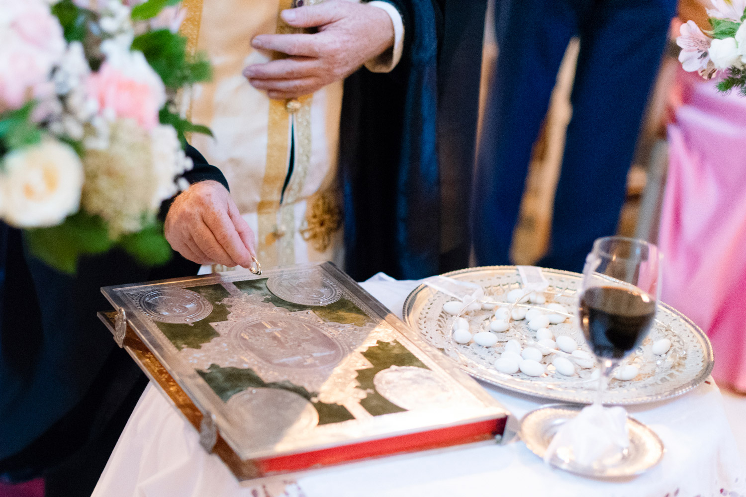The Betrothal Service orthodox wedding