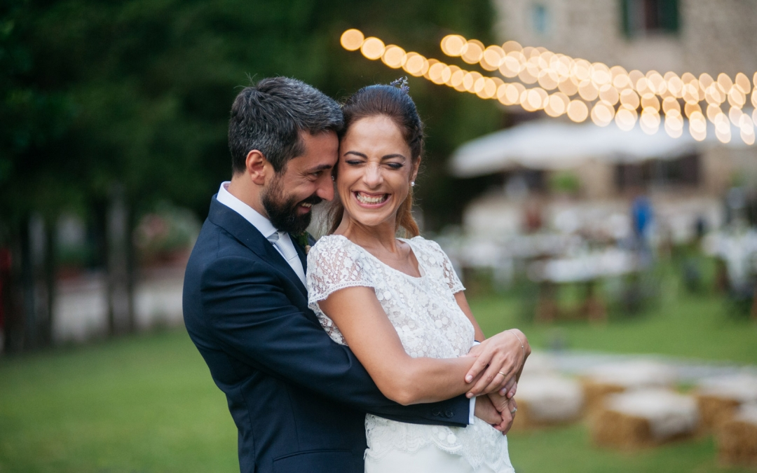 Outdoor garden wedding in Umbria
